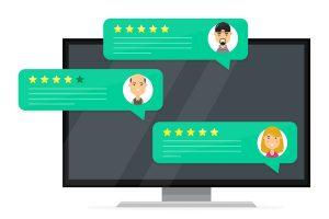 Customer feedback online reviews